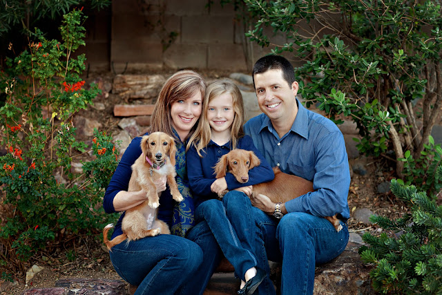 Tucson family poses with dogs while their photographer captures the essence of their family