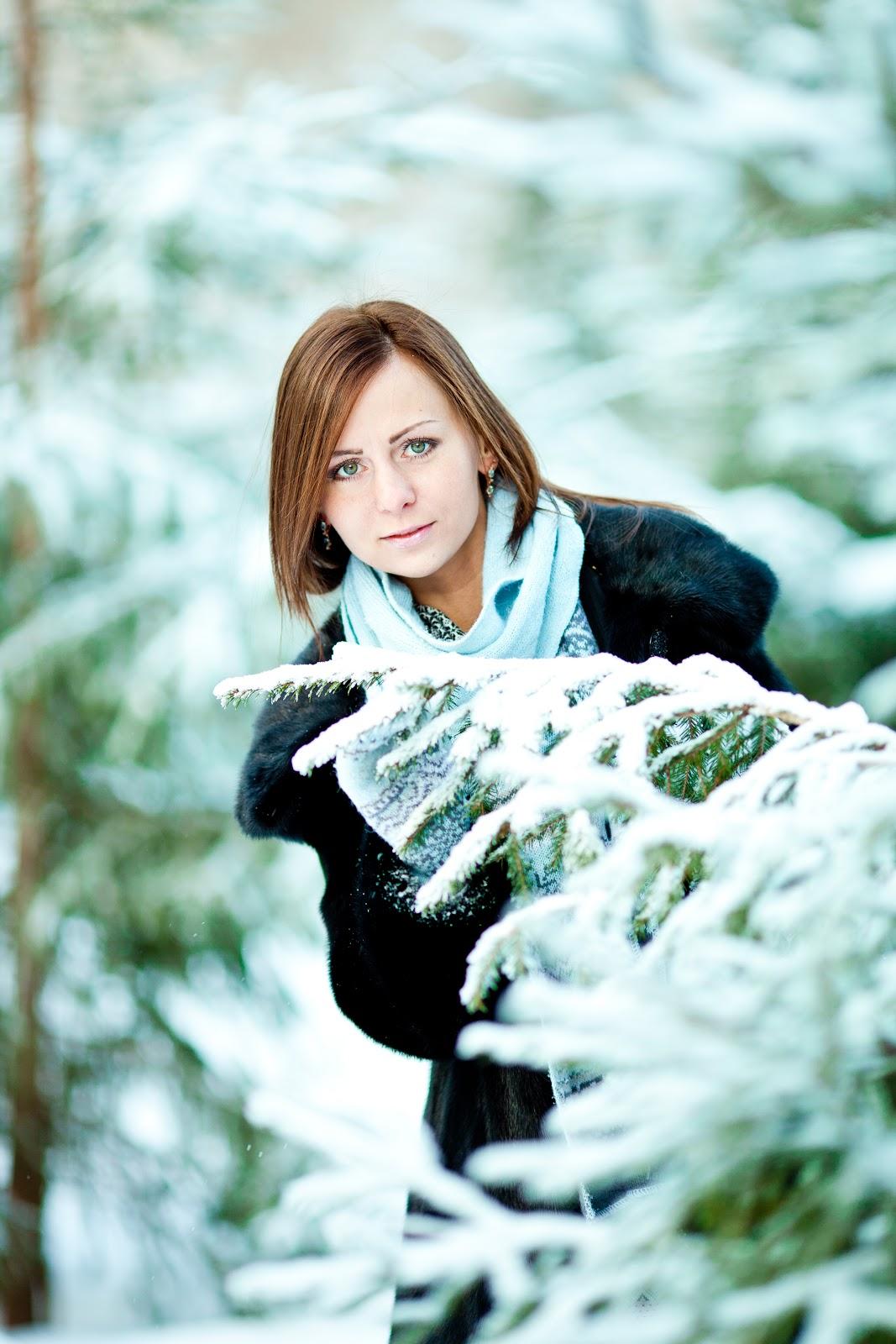 Зимняя фотосессия на улице идеи фото девушек