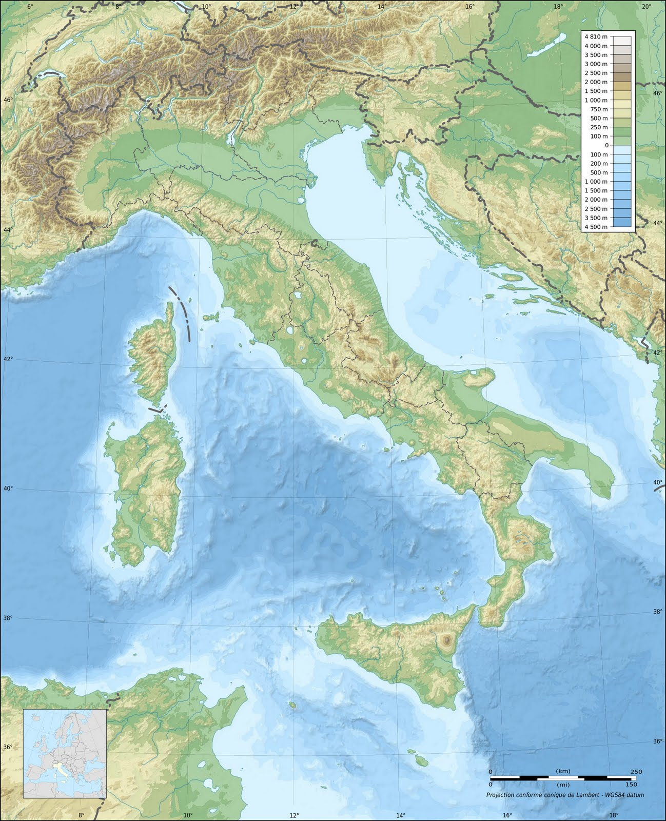A World of Maps Topographic Map
