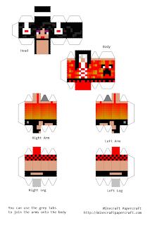 Papercraft seu avatar minecraft nas suas mãos