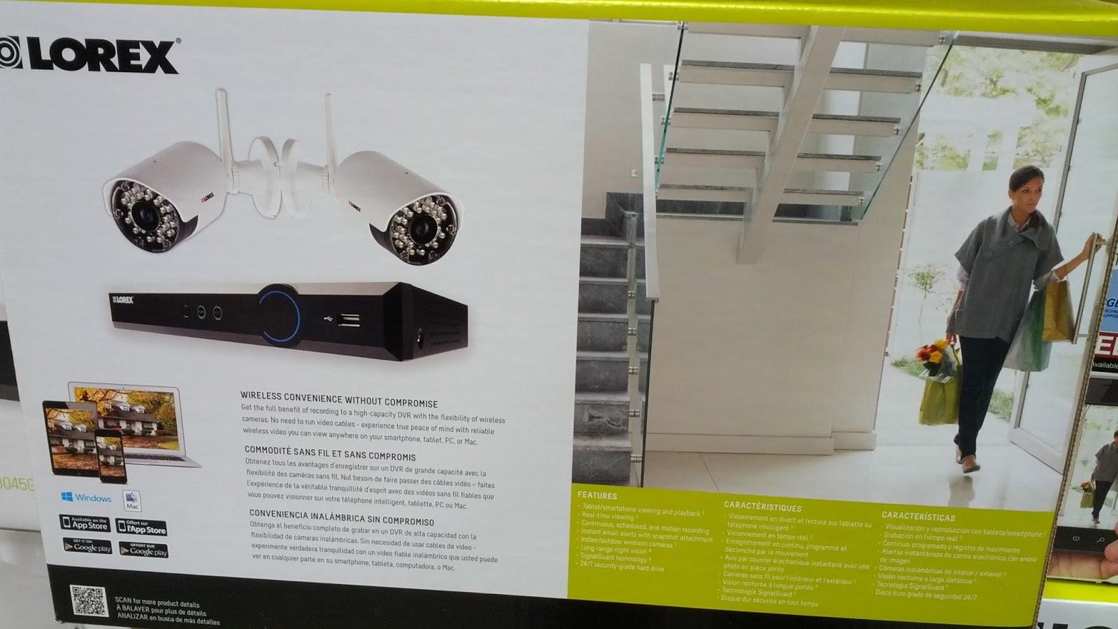 Lorex LH03045GC2WF Surveillance System and Wireless Camera Bundle  Costco Weekender