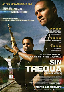 Sin Tregua (End of Watch) Poster