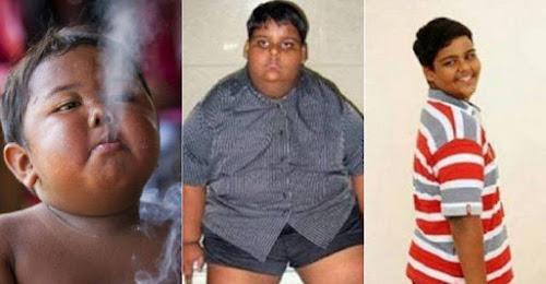Antes e depois do garoto que fumava 40 cigarros por dia