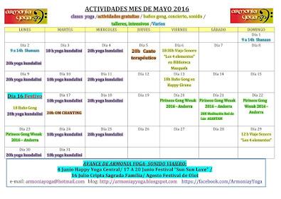 Actividades MAYO 2016