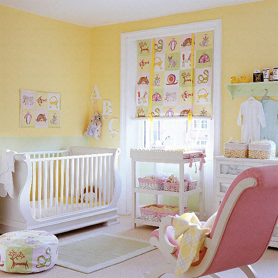 New home interior design nursery decorating ideas for Babies decoration room