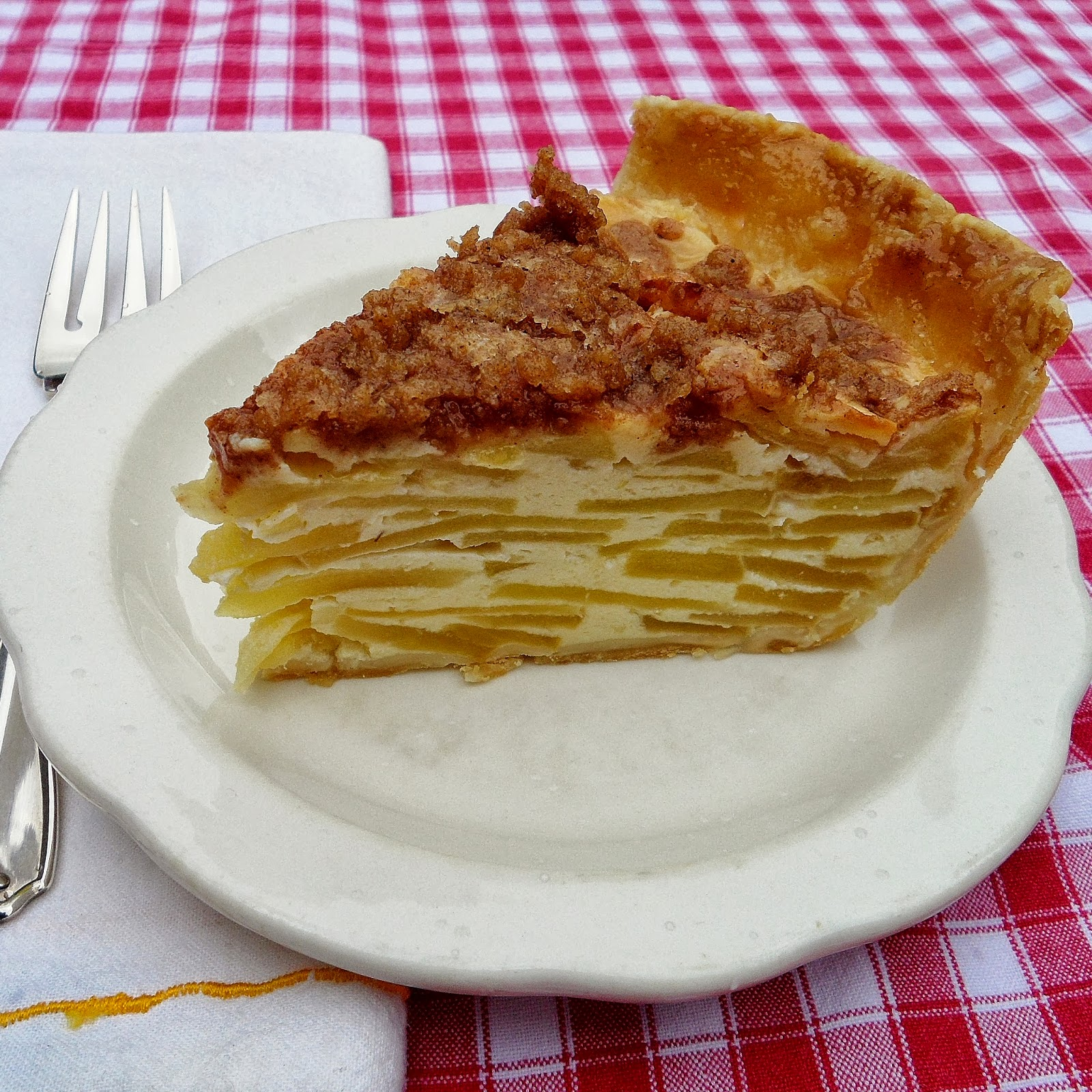 Sage Trifle: Sour Cream Apple Pie with Streusel Topping