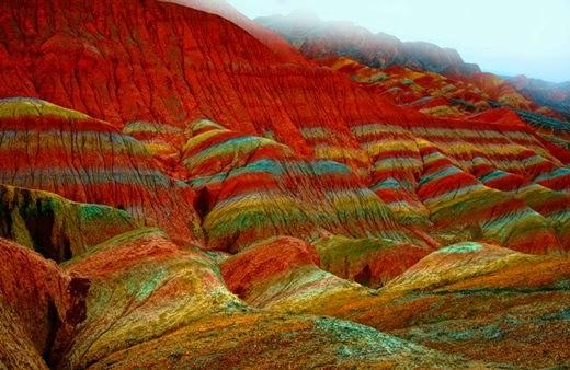 The wonders nature has created is  Rainbow Mountain