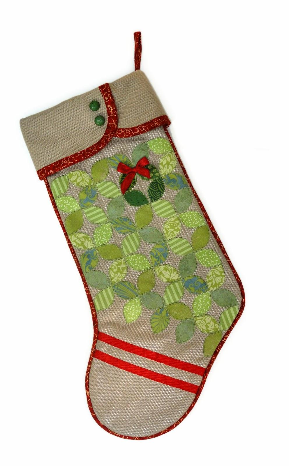 needles u0027n u0027 knowledge stocking inspirations with fabric cut shapes