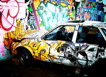 Graffiti on Aldy Graffiti Art  Cars Graffiti    Graffiti On The Car Body