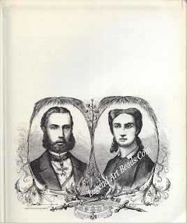 The Emperor Maximilian of Mexico and the Empress Carlotta. One of the emperor's most prized possessions was a 42-carat diamond which he was wearing round his neck at the time of his execution in 1867.