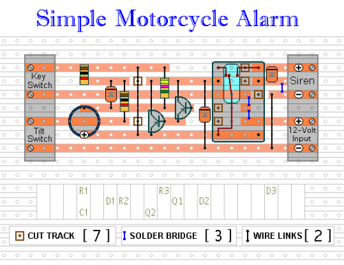 motorcycle alarm wiring diagram    wiring    material    motorcycle       alarm    with transistor circuit     wiring    material    motorcycle       alarm    with transistor circuit