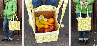 artesanato de reciclagem - ecobag caixa de papelão