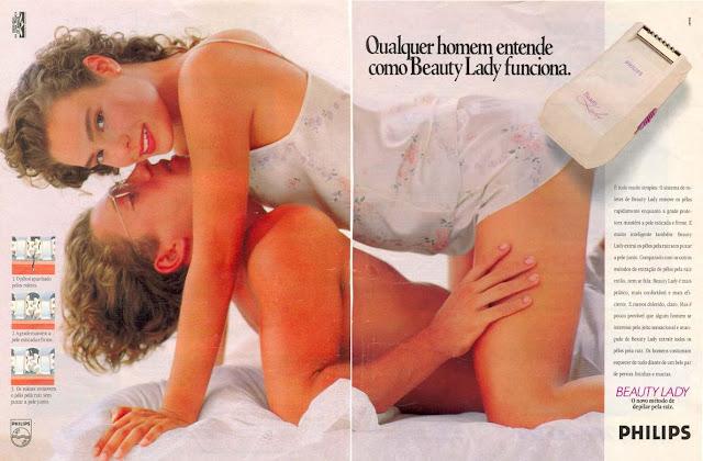 Propaganda do depilador feminino da Philips (Beauty Lady), lançado em 1987.
