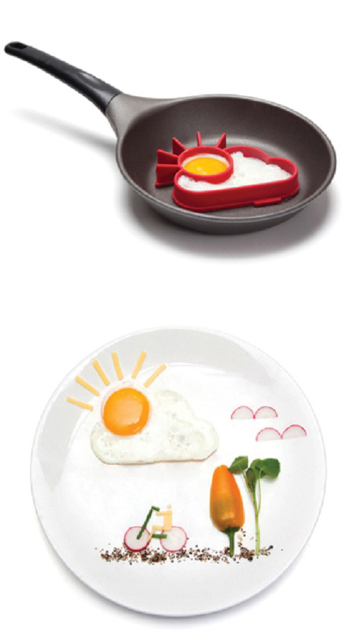 Molde para huevo en forma de sol-nube