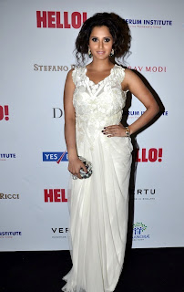 Sania mirza in Designer White Gown at Hello Hall of Fames Function