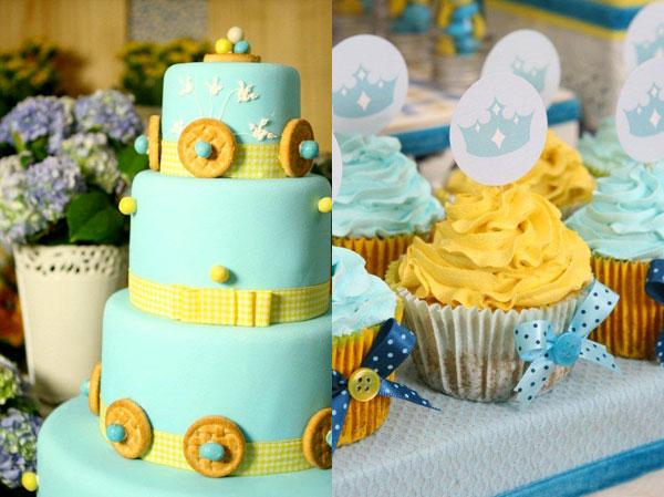 decoracao azul e amarelo para cha de bebe : decoracao azul e amarelo para cha de bebe: algo assim pro seu chá de bebê ficará no mínimo de cair o queixo