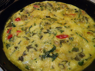 Finished Frittata in Pan