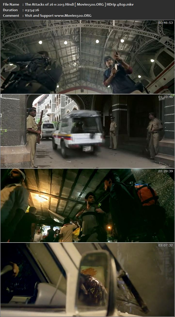 The Attacks of 26 11 2013 Bollywood 625MB HDRip 480p at xcharge.net