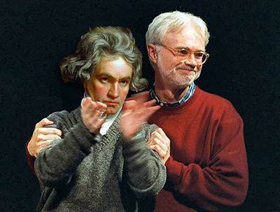 Ludwig van Beethoven and John Adams take their bows