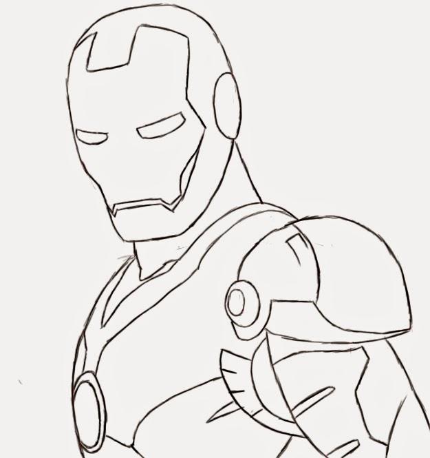 Muitas vezes SilyL@ndia: Desenho: Aprenda a Desenhar o Homem de Ferro VB16