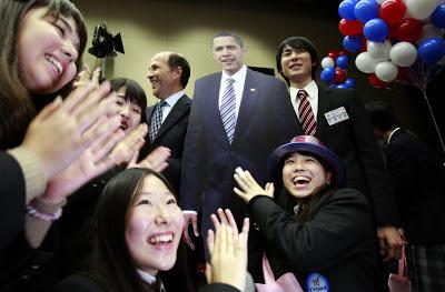 Students in Japan celebrate Obama's reelection