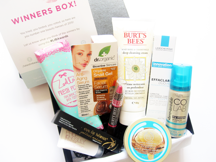 Latest In Beauty Awards - The Winners Box - 2015 review