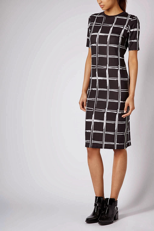 topshop check dress