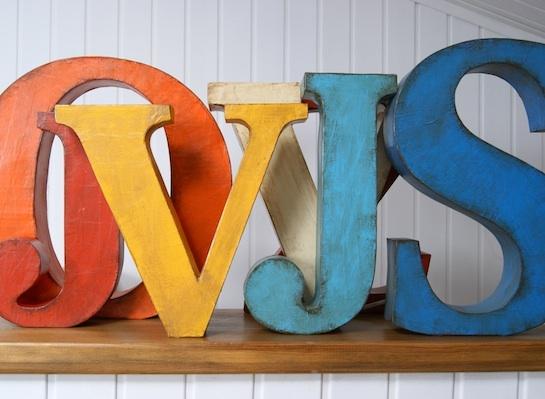 Otro mundo pl stico letras decorativas de papel mach - Como hacer letras decorativas ...