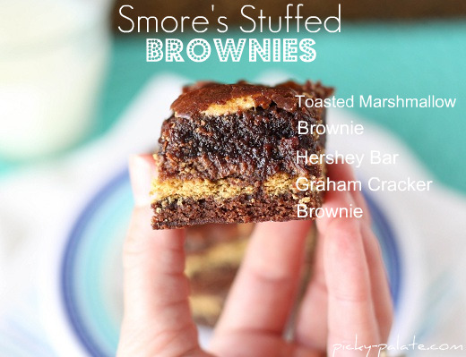 Whispered Conversations...: S'mores Stuffed Brownies