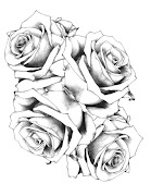 Black Flower Tattoo Designs . Girls Tattoo on Body . Females Body Tattoo .