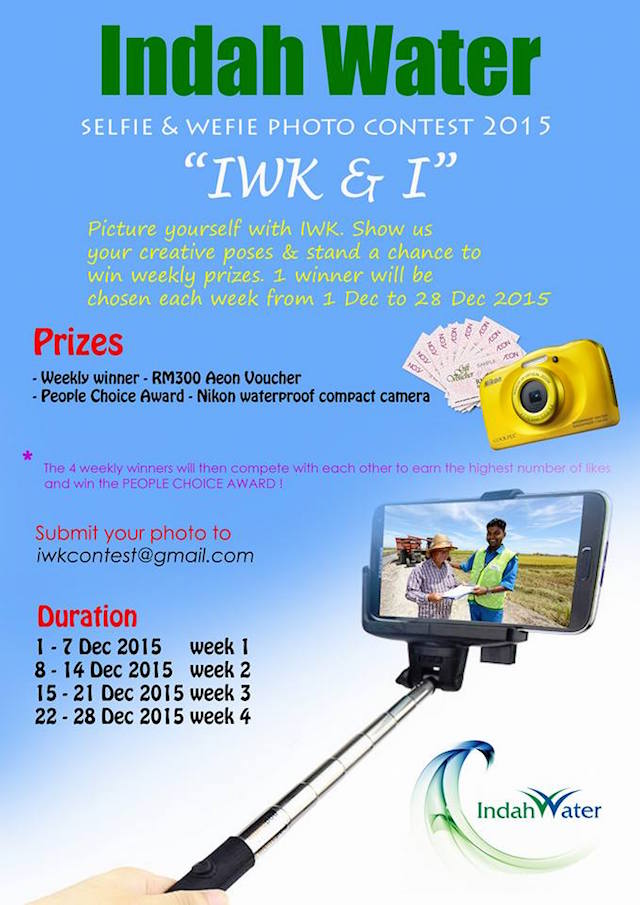Indah Water Konsortium (IWK) Selfie & Wefie Photo Contest 2015