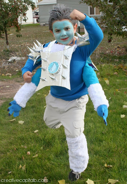 DIY homemade Skylanders Slam Bam costume