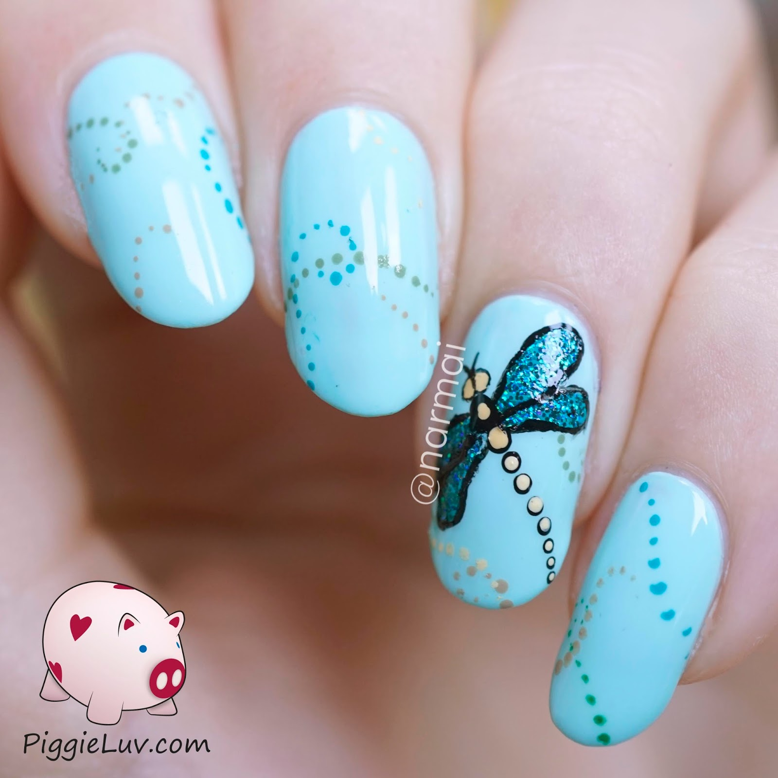 Piggieluv glitter dragonfly nail art glitter dragonfly nail art prinsesfo Image collections