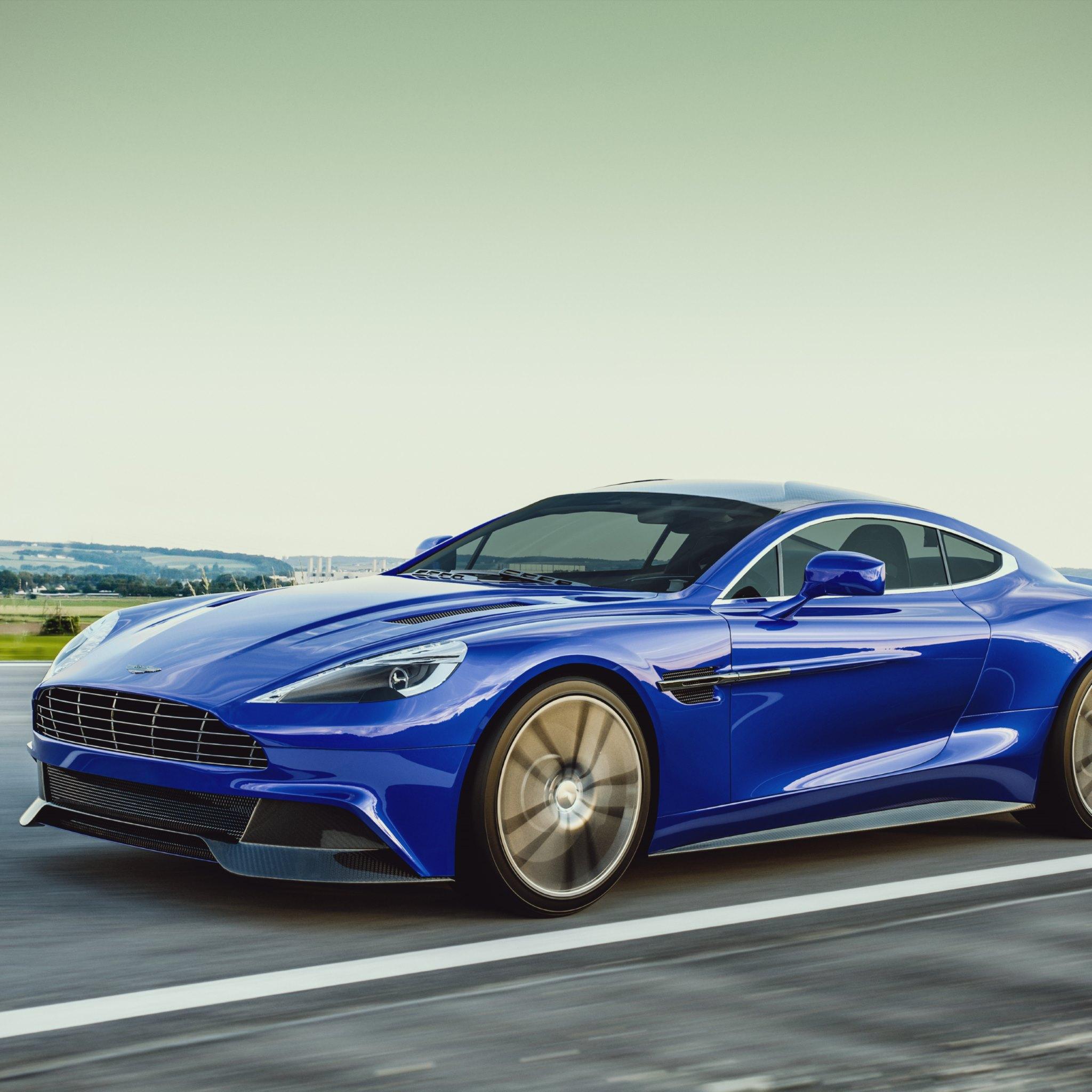 2016 Aston Martin Vanquish Camshaft: Aston Martin Vanquish Blue