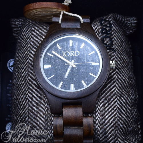 Men's Jord Fieldcrest Wood Watch in Black
