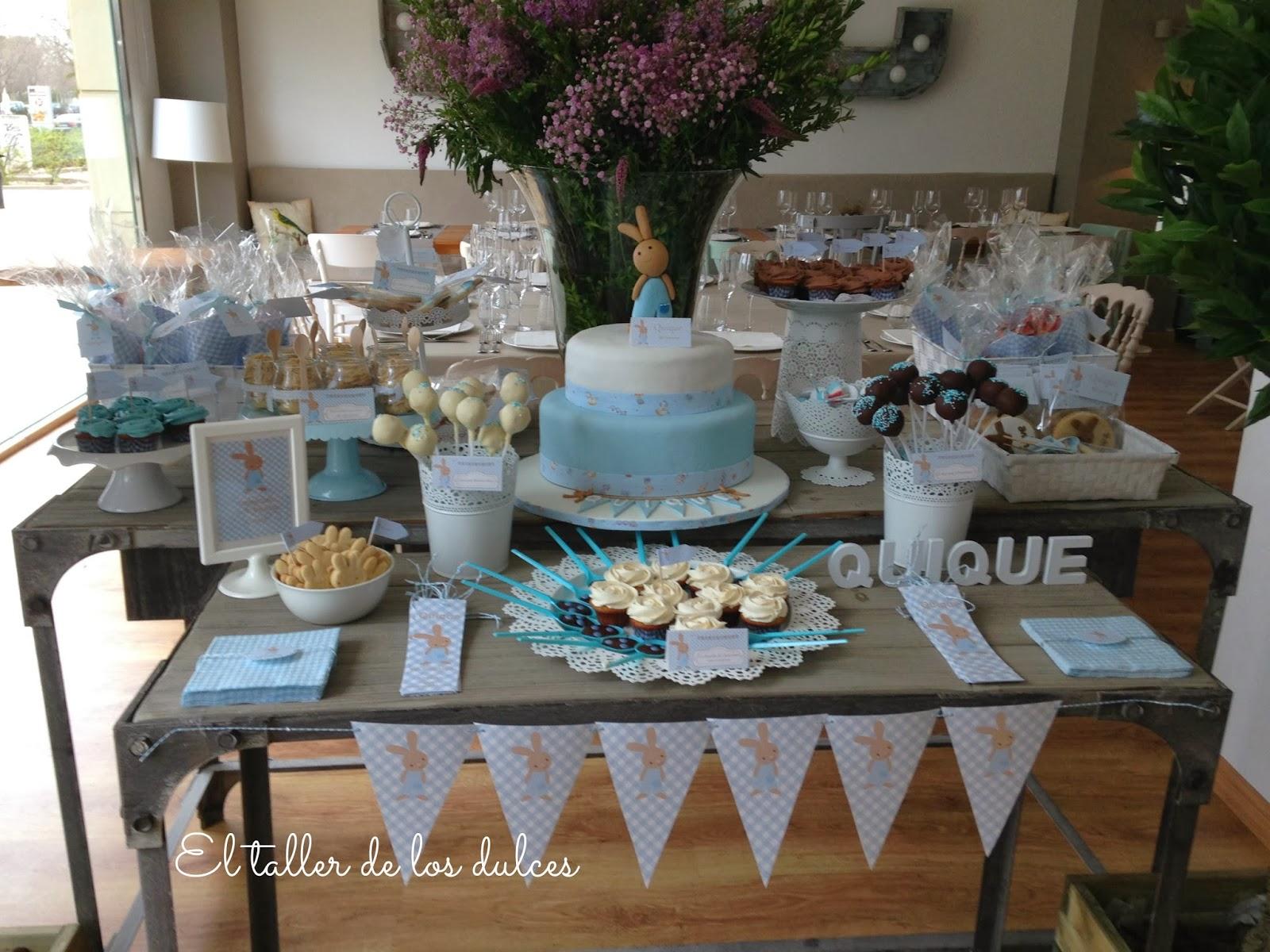 El taller de los dulces mesa dulce para el bautizo de - Hacer mesa dulce bautizo ...