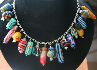 Mardi Gras (polymer clay, sterling silver) :: All the Pretty Things