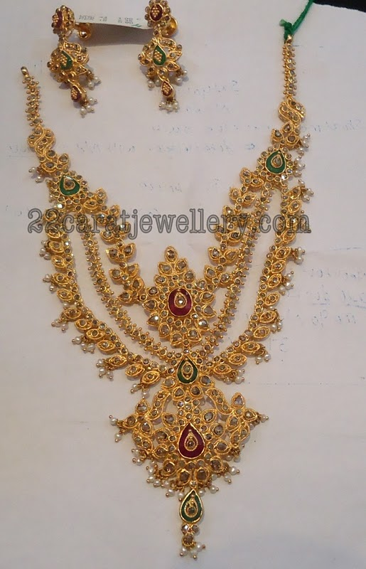 Uncut Diamond Chakri Necklace Sets By Prem Raj Jewellers