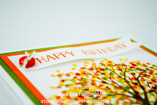 sheltering tree stampin up, celebrate today