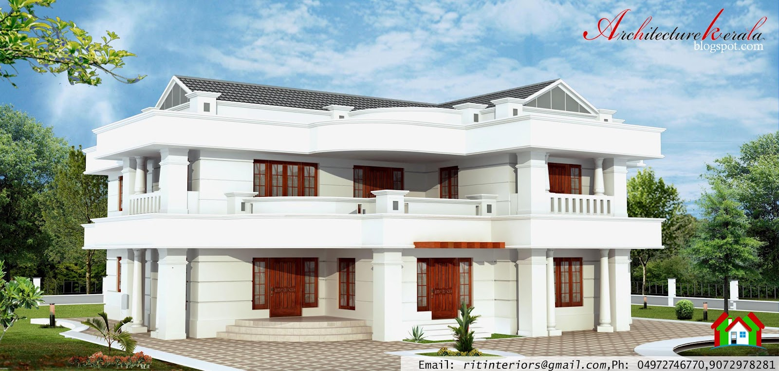 Architecture Kerala: 4 BEDROOM, LARGE KERALA HOUSE PLANS