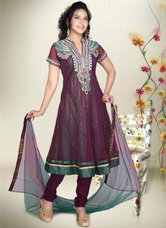 Net-Anarkali-Churidar-Suit