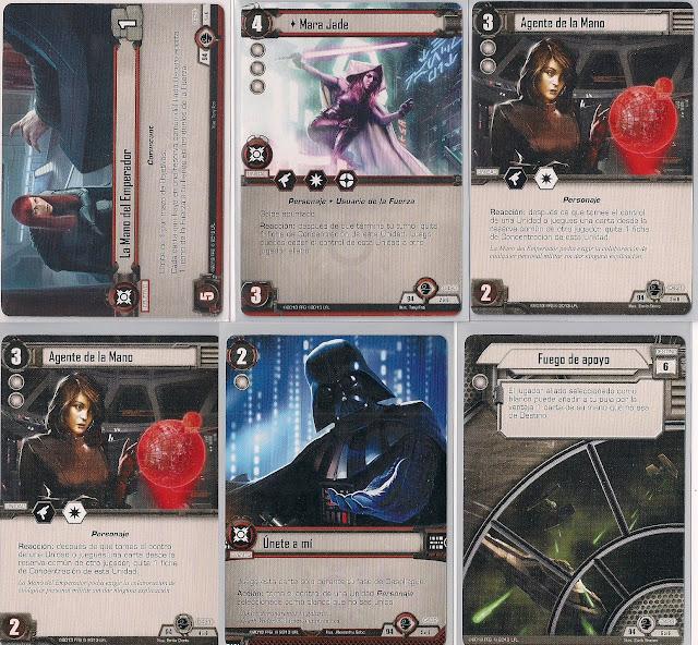 Expansión Star Wars LCG: El equilibrio de la Fuerza La Mano del Emperador