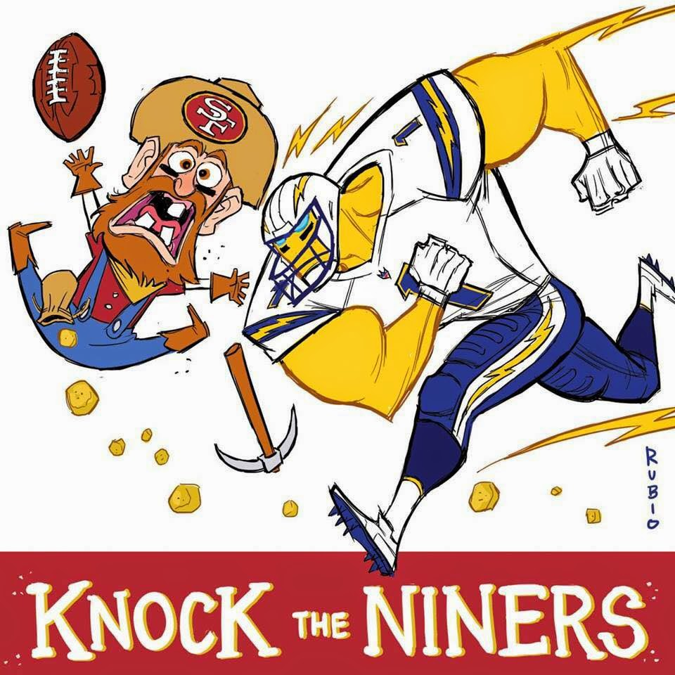 knock the niners. #Ninershaters #chargers #49ershaters