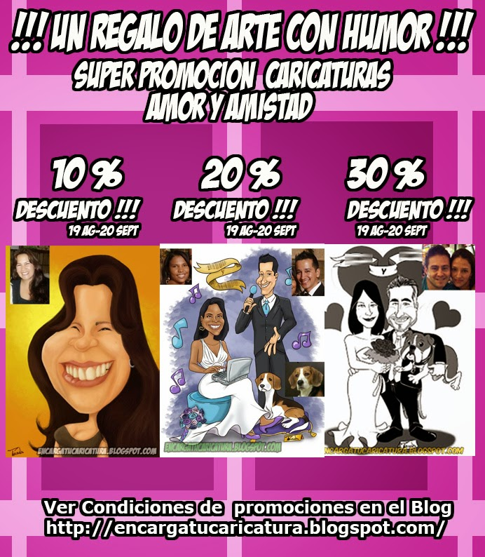 PROMOCION CARICATURAS AMOR Y AMISTAD