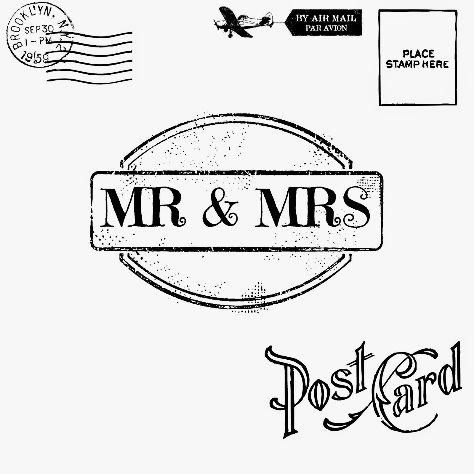 mr & mrs printable