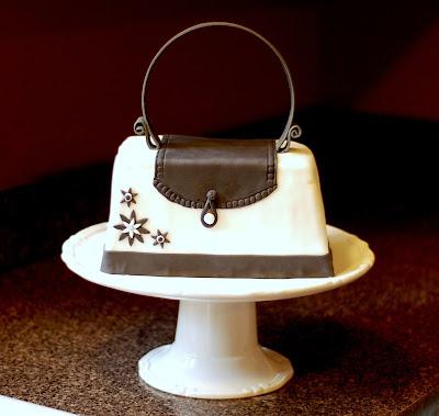 fondant cake purse