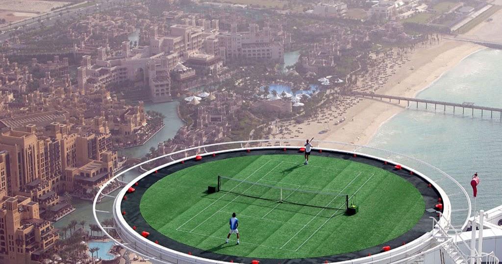 Wallsheets Highest Tennis Court Dubai Desktop