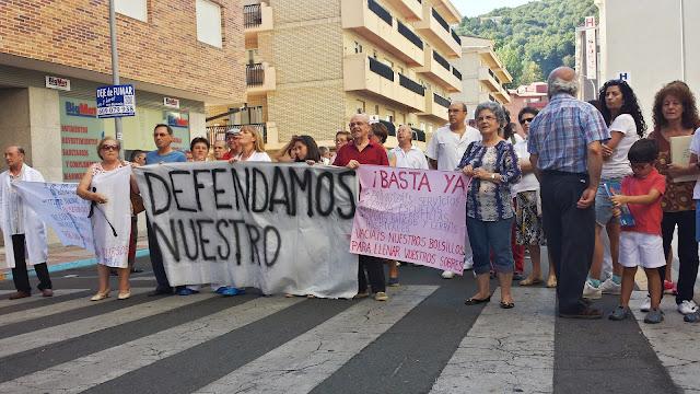 protestas hoy a las puertas del hospital