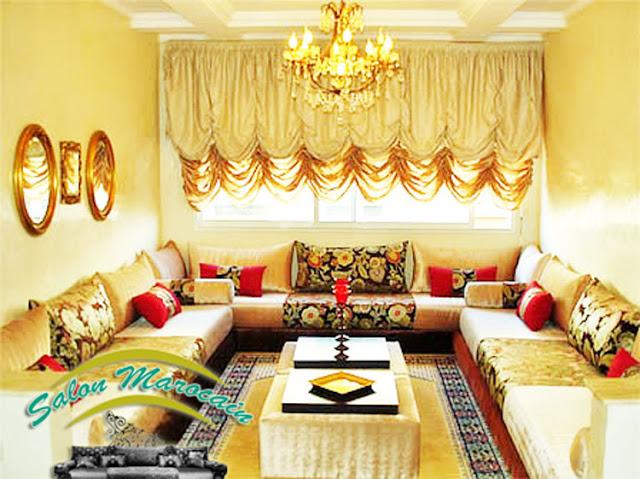 D coration salon marocain 2016 for Decoration salon marocain moderne 2016