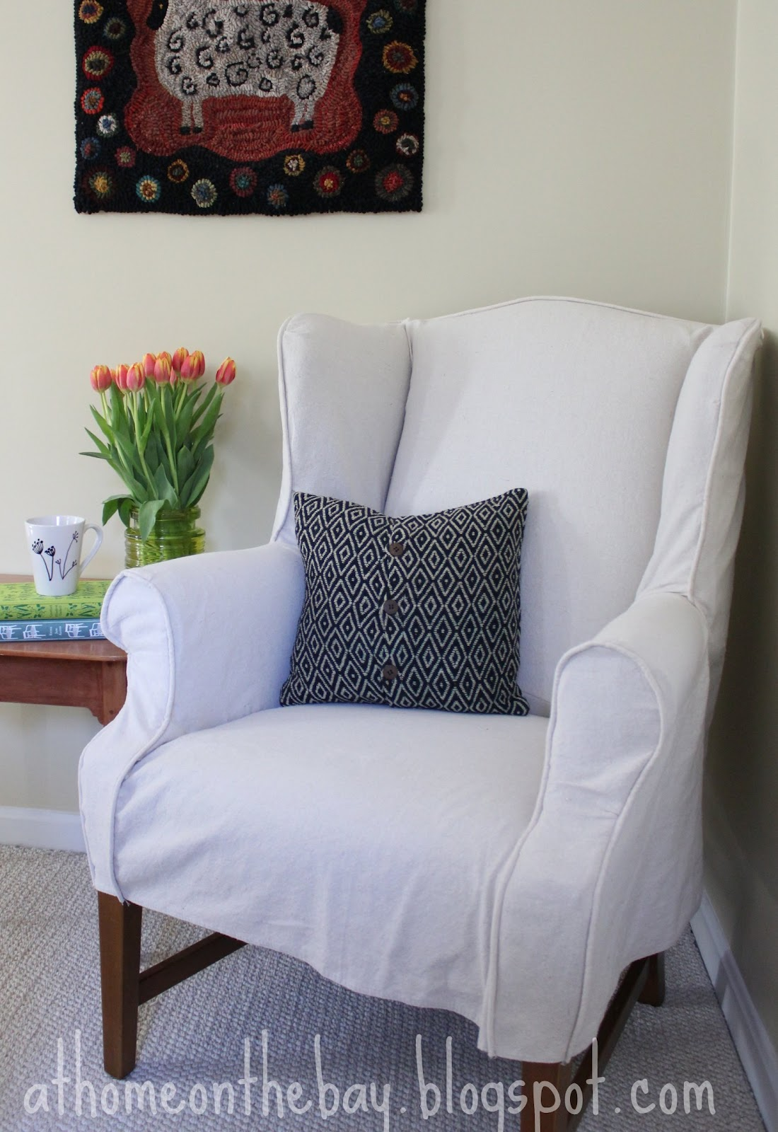 Elegant ... First Slipcover Out Of A Drop Cloth. They Are Inexpensive And Durable  And That Is Exactly What I Did. The Total Cost For This Project Was Under  $20.